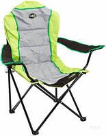 Складной стул для похода S2274D-1, ткань, стальной каркас, чехол, 120 кг, цветной
