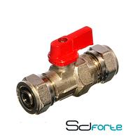 SD FORTE Кран шаровый для металлопластиковых труб  16 х 16