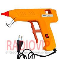 Клеевой пистолет с кнопкой HD-02, под клей 11мм, 120W, желтый