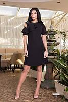 Красивое женское платье Воланчик 7105-7 черное