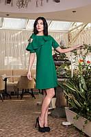 Красивое женское платье Воланчик 7105-5 зеленое