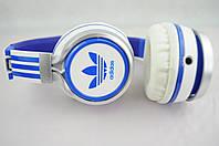 Наушники проводные ADIDAS (в коробке)белые\синие