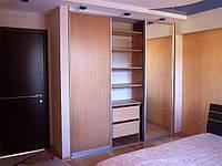 Шкаф угловой, шкаф-купе на заказ, Киев, ДСП, раздвижная система