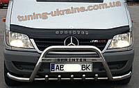 Защита переднего бампера кенгурятник из нержавейки на Renault Trafic 2001-2014
