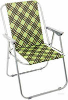 Кресло туристическое складное DES1001-5C-2, металлический каркас и подлокотники, 2,5 кг