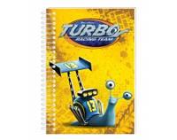 """Блокнот Economix А6, """"Турбо"""", спираль, пластиковая обложка, 48 л. (TU06273-02 (синий) x 116416)"""