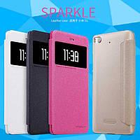 Кожаный чехол-книжка Nillkin Sparkle для Xiaomi Mi 5s черный