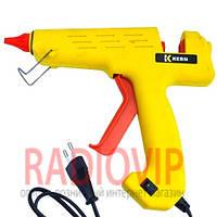 Клеевой пистолет с кнопкой HD-01, под клей 11мм, 180W, желтый