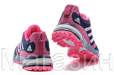 Женские кроссовки Adidas Marathon Navy Pink (адидас марафон) синие, фото 2