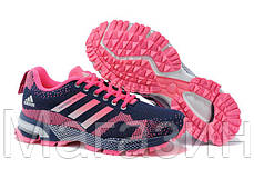 Женские кроссовки Adidas Marathon Navy Pink (адидас марафон) синие, фото 3