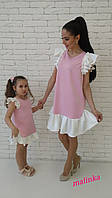 """Красивое стильное нарядное платье """"Мама и дочка"""" В20036"""