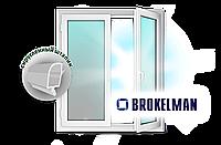 Окно стандартное 1,3*1,4 из профиля Brokelman-4k 1-кам стеклопак