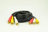 Аудио-кабель 3RCA 3 метра