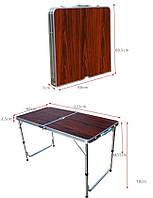 Стол складной с пластиковой столешницей, 120*60*70.