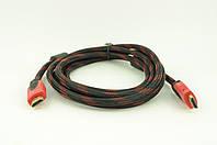 Кабель видео HDMI 2 ферит 3м (пакет)