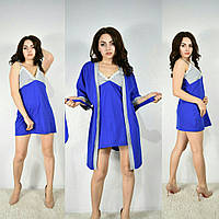 Комплект Турция халат с ночнушкой женский