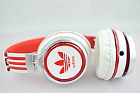 Наушники проводные ADIDAS (в коробке) белый\красный