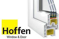 Окно стандартное 1,3*1,4 из профиля Hoffen-4k 1-кам стеклопак