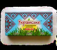 """Масло крестьянское 73% пачка 200г  ТМ """"Украинское"""""""