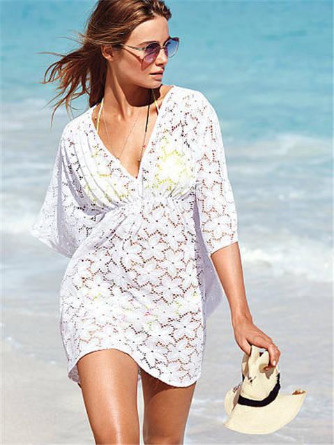 Пляжное платье в цветы AL7015, фото 1