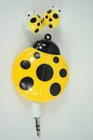 Наушники вакуумные детские SN-1301/02/03 (шнур-рулетка, без микрофона)желтые