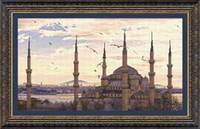 Набор для частичной вышивки крестиком Crystal Art Мечеть Султанахмет