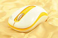 Мышка компьютерная беспроводная + радио ST106 белый+оранж