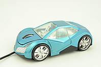 Мышь компьютерная проводная MA-556USB голубая