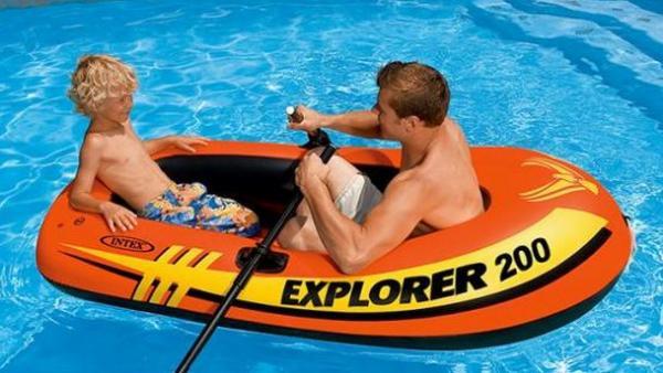 "Надувная лодка Intex  ""Explorer 200"" 185х94х41 см (58330)"