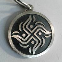 Серебряная подвеска Коловрат (Свастика), фото 1
