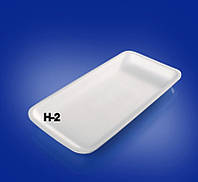 Подложка Пластиковые пищевые лотки (подложка)  0125 (0125585(М-2 А  22,6*15,3*2-200шт) x 99482)