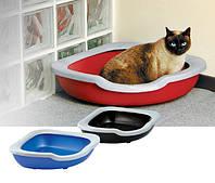Туалет Imac Fred для кошек угловой открытый, 51х51х15,5 см, фото 1