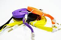 AUX Аудио-кабель 3.5 jackMM лапша толстая 2м