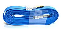 AUX Аудио-кабель 3.5 jackMM лапша толстая 3м