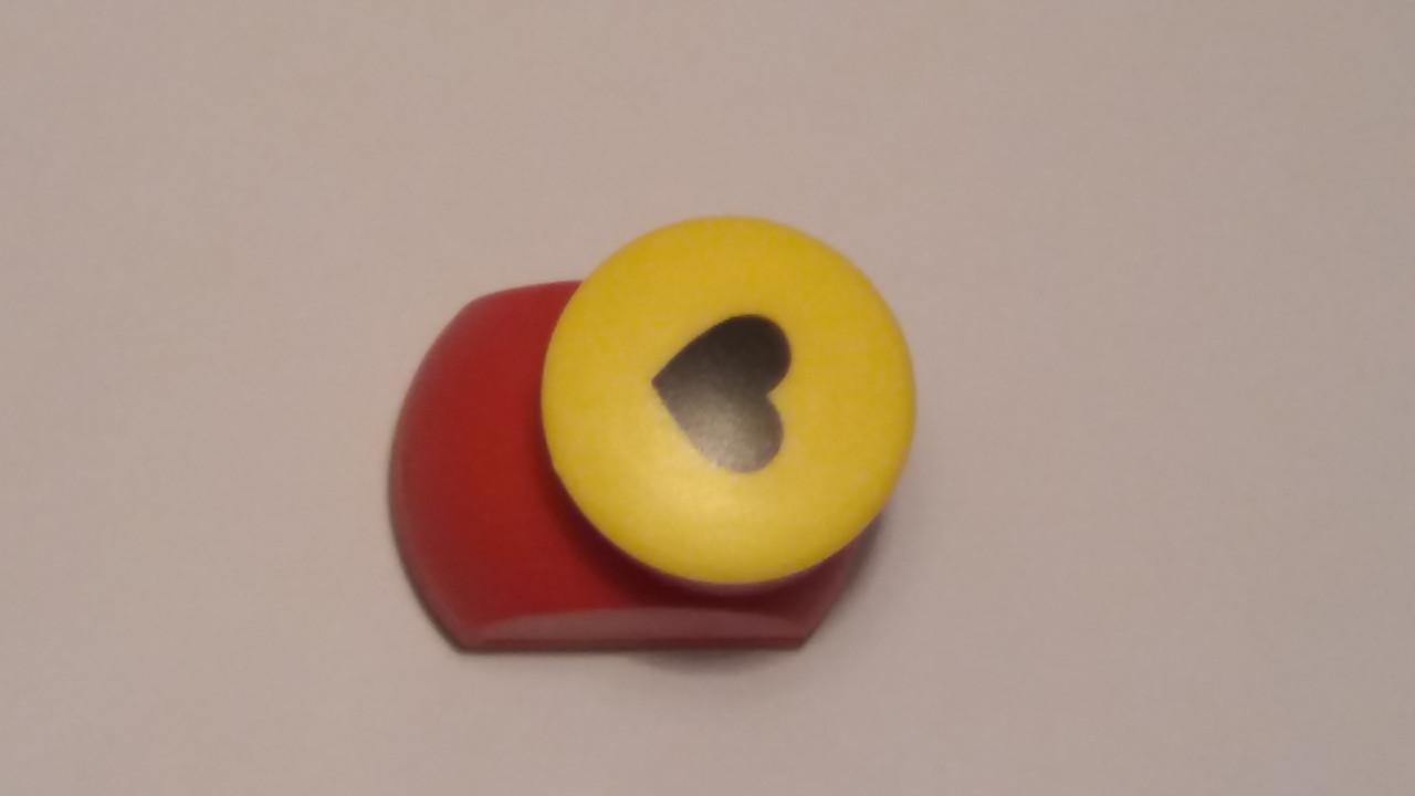 """Креативный панч одинарный, d=20 мм, в """"Сердце"""""""