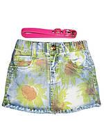 Джинсовая юбка для девочек, Grace, размеры 116,128,134,140,146, арт. G-50170