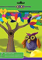 Картон рельефный покрашенный  А4, 7 листов 7 цветов Zibi ZB.1974 (ZB.1974 x 115425)