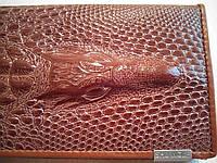 Кошелек женский  Крокодил кожаный, Коричневый, фото 1