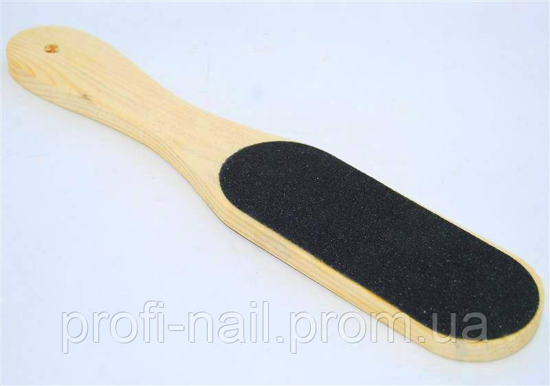 Терка для ног деревянная широкая, щетки YRE PN-04, терка для ног купить
