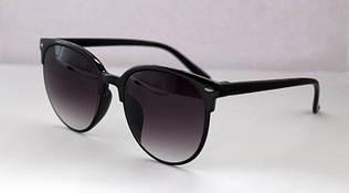 Круглые сдержанные солнцезащитные очки унисекс