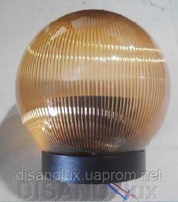Светильник садово-парковый шар NF1807 φ150мм  золото призматик  IP44