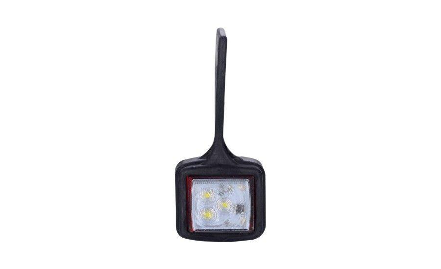 Диодный выносной, габаритный фонарь, квадратный  (красно/белый) с кабелем 0,5 м, 12/24 V, HOR 44 (висячий) + быстрое соединение, правый (P) или левый