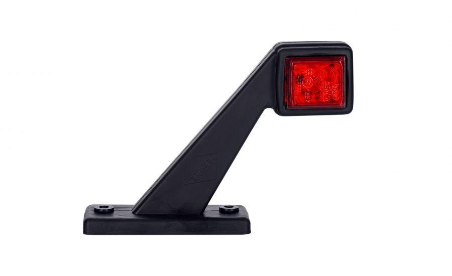 Диодный выносной, габаритный фонарь, квадратный  (красно/белый) с кабелем 0,5 м, 12/24 V, HOR 44 - короткий рожок, правый (P) или левый (L)
