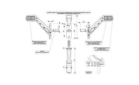 Диодно-выносной габаритный фонарь HOR 53, красно\бело\оранжевый, с кабелем 0,5 м, с быстрым соединением, 12/24 V, рожок с углом наклона, длинный,, фото 2
