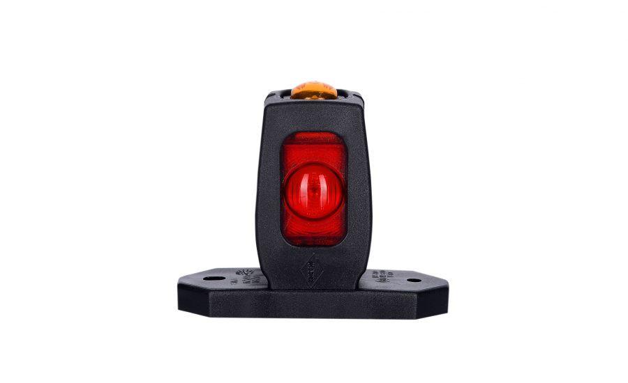 Диодно - выносной габаритный фонарь HOR 53, красно\бело\оранжевый с кабелем 0,5 м, 12/24 V, рожок прямой, короткий