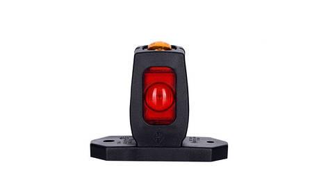 Диодно - выносной габаритный фонарь HOR 53, красно\бело\оранжевый с кабелем 0,5 м, 12/24 V, рожок прямой, короткий, фото 2