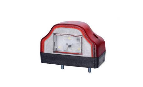 Светодиодный фонарь подсветки заднего номера, с красным корпусом, 12/24V, 0,5 м кабель , фото 2