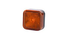 Габаритный, прямоугольный фонарь оранжевый, с отражателем