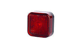 Габаритный, прямоугольный фонарь красный, с отражателем