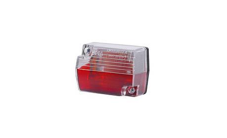 Габаритный, прямоугольный фонарь красно-белый, маленький , фото 2